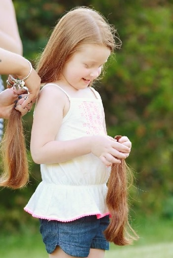 девочка волосы