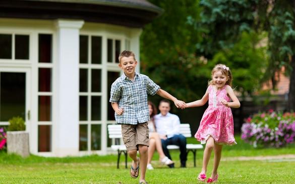 счастливая семья дети