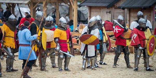 рыцарские бои в Парк Киевская Русь
