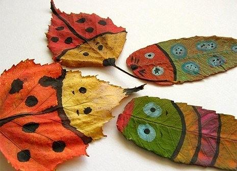 Поделки из осенних листьев (фото)