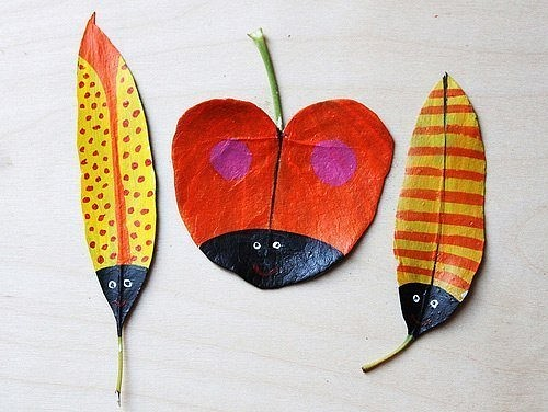 поделки и осенних листьев фото