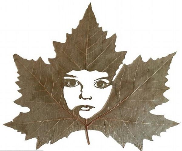 diy из сухих листьев
