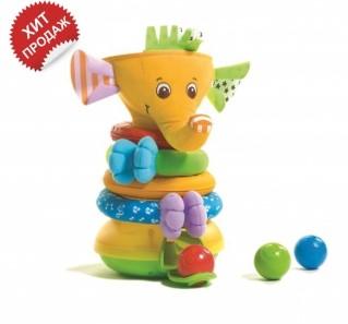 подарки для самых маленьких Музыкальная пирамидка «Радужный Слоник»