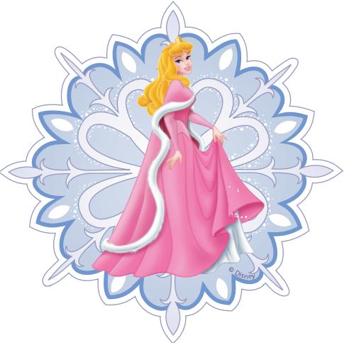 шаблоны снежинок принцессы Диснея