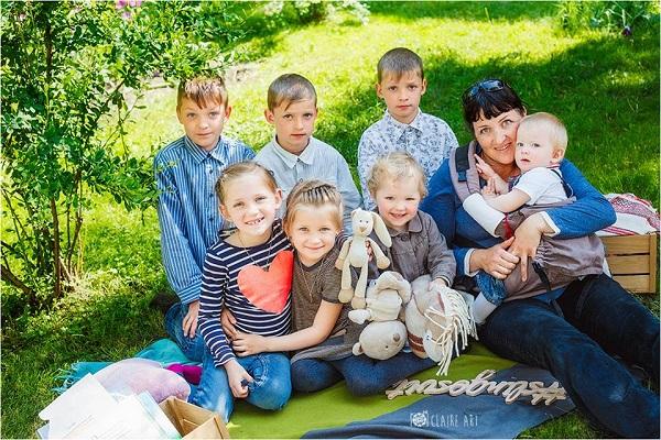многодетная мама 7 детей
