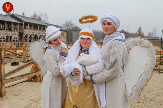 Крещение в «Парке Киевская Русь»