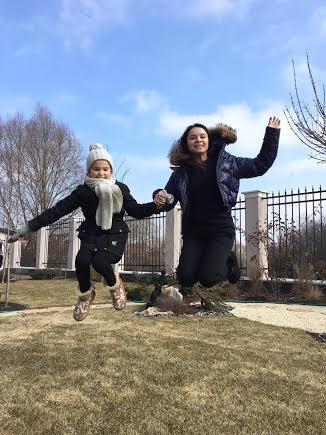 Лилия Подкопаева с дочкой