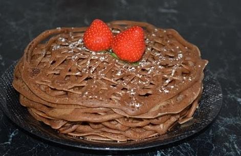 шоколадные кружевные блинчики