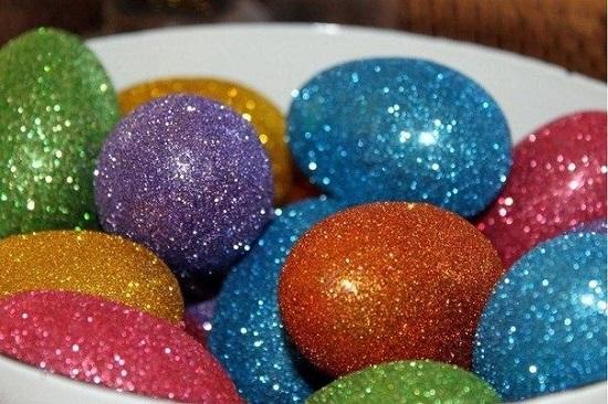 Блестки. Декор пасхальных яиц