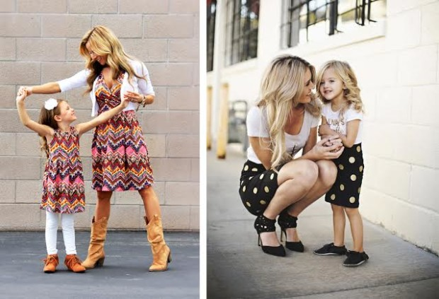 стиль мама и дочка