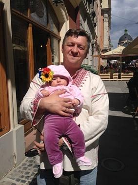 Дмитро Лісенбарт з донькою