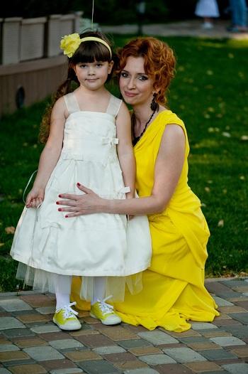 Ольга Казберова и дочка