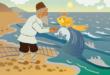 Сказка с психологом. Сказка о рыбаке и рыбке