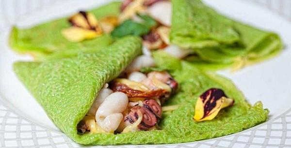 зеленые блины рецепт