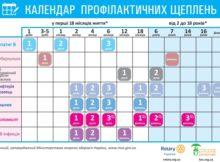 календар щеплень