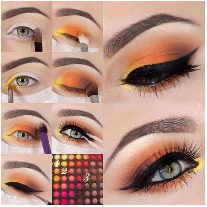макияж глаз 2018